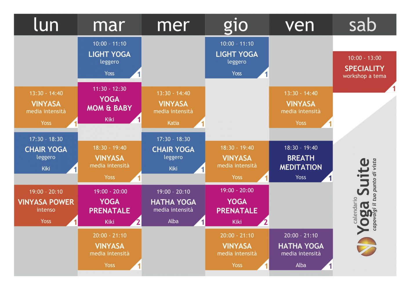 Orario Corsi Yoga Suite